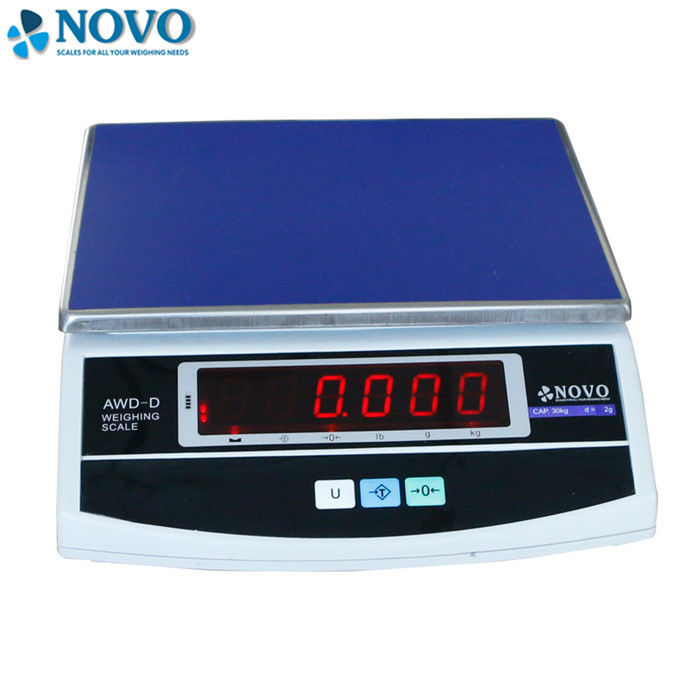 Table Top Accurate Digital Scale Square Electronic Platform Low Battery Indicator